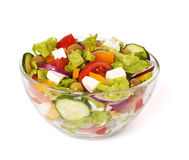Greek salad isolated on white Stock Photography