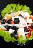 Greek salad, macro royalty free stock images