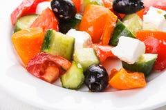 Greek salad macro Stock Images