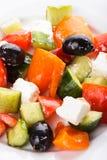 Greek salad macro Stock Photos