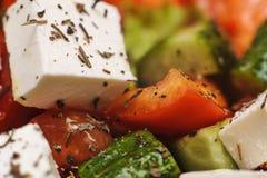Greek salad macro Royalty Free Stock Image