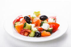 Greek salad macro Royalty Free Stock Photos