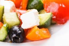 Greek salad macro Stock Photo