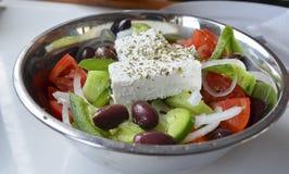 Greek salad. Mediterranean food, cheese, vegetables and olive Stock Photo