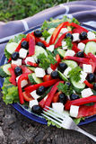 Greek salad with olives Stock Photo