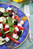 Greek salad with olives Stock Images