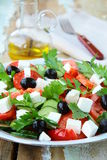 Greek salad with olives, tomatoes Stock Photography