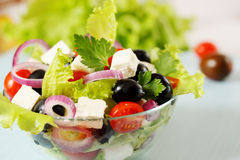 Greek salad with olives Royalty Free Stock Images