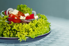 Greek salad in the plate Stock Photography