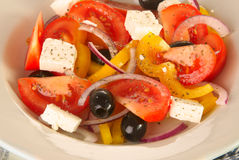 Greek salad. On a plate Stock Photography