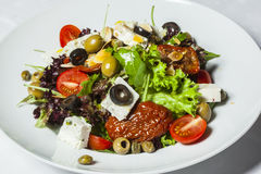 Greek salad in a plate Royalty Free Stock Photos