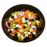 Greek salad plate in black Stock Photos