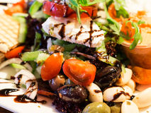 Greek salad on a plate Stock Image