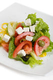 Greek salad in plate Stock Photo