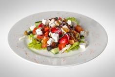 Greek salad on plate Royalty Free Stock Image