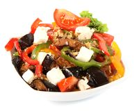 Greek salad in plate Stock Photography