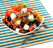 Greek salad in plate Royalty Free Stock Photography