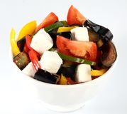 Greek salad in plate Royalty Free Stock Image