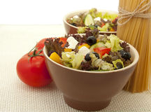 Greek salad in a pots Royalty Free Stock Photos