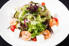 Greek salad with shrimp Royalty Free Stock Photo