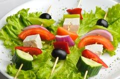 Greek salad on sticks Royalty Free Stock Image
