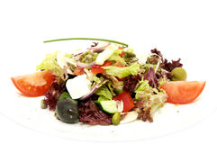 Greek salad on a table Royalty Free Stock Photography