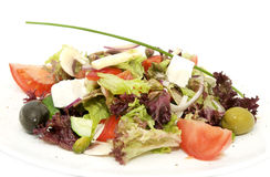 Greek salad on a table Royalty Free Stock Photos