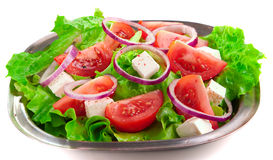 Greek salad with tomatoes Stock Photography