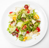 Greek salad, top view Royalty Free Stock Images