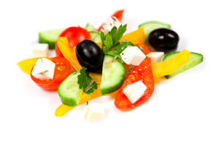 Greek salad of vegetables Stock Photos
