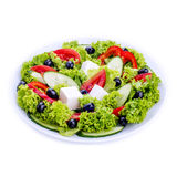 Greek salad in white bowl Royalty Free Stock Photography