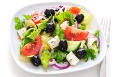Greek salad  on white Stock Photography