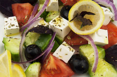 Greek salad in the white plate Royalty Free Stock Photo