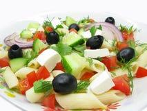Greek Salad With Pasta Royalty Free Stock Photos