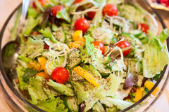 Greek salade in plate, close up view Stock Image