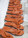 Greek sandals Stock Images