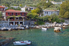 Greek scenic fishing village at Pelion. Greek scenic fishing village at Damouchari of Pelion in Greece Royalty Free Stock Photo