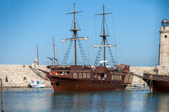 Greek schooner Royalty Free Stock Photography