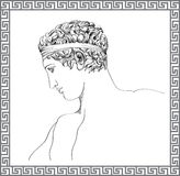Greek sculpture. Vector hand drawn sketch. Stock Images