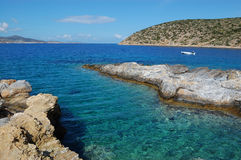 Greek sea, amorgos island stock image
