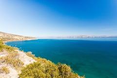Greek sea coastline, seascape stock images