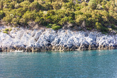 Greek sea cost Royalty Free Stock Images