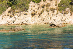 Greek sea cost Stock Photography
