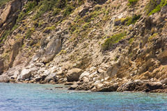 Greek sea cost Royalty Free Stock Image