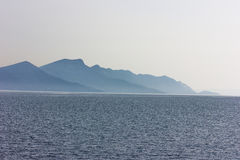 Greek sea cost Royalty Free Stock Photo