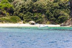 Greek sea cost Stock Photos