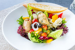 Greek Seafood Salad Royalty Free Stock Photography