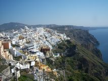 Greek seashore in Santorini Stock Photos
