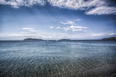 Greek Seaside. Seaside on the island of Skiathos in Greece Stock Images