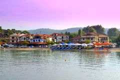 Greek seaside village Stock Photography